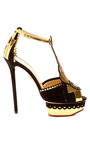 Sunset Suede And Metallic Leather Platform Sandal by CHARLOTTE OLYMPIA Now Available on Moda Operandi