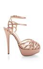 Ursula Satin Strappy Platform Sandals by CHARLOTTE OLYMPIA Now Available on Moda Operandi