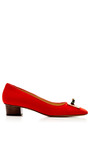 Kiss Me Quick Suede Pump by CHARLOTTE OLYMPIA Now Available on Moda Operandi