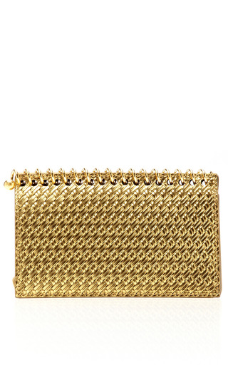 Metallic Leather Notebook Clutch by CHARLOTTE OLYMPIA Now Available on Moda Operandi