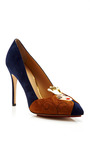 Sleeping Beauty Suede Pump by CHARLOTTE OLYMPIA Now Available on Moda Operandi