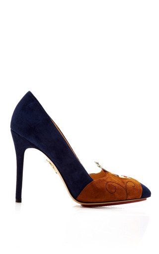 Medium charlotte olympia blue sleeping beauty suede pump