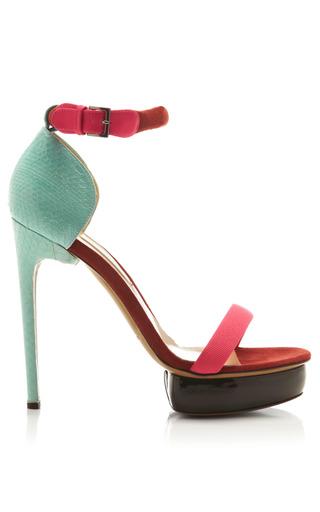 Medium nicholas kirkwood multi snakeskin suede and patent leather platform sandals