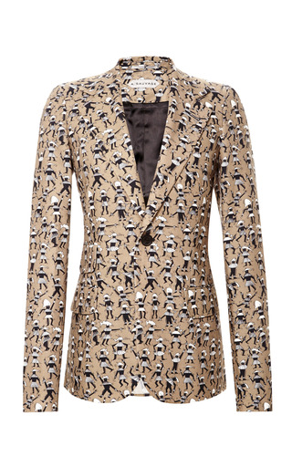 Digitally Printed Asafo Mccall Jacket by A. SAUVAGE Now Available on Moda Operandi