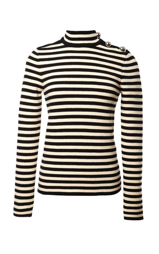 Medium bouchra jarrar multi striped wool sweater