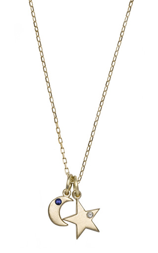 Star And Moon Necklace by BIANCA PRATT for Preorder on Moda Operandi