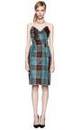 Silk Taffeta Plaid Bustier Dress by VIVIENNE WESTWOOD Now Available on Moda Operandi