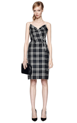 Silk Taffeta Checked Bustier Dress by VIVIENNE WESTWOOD Now Available on Moda Operandi