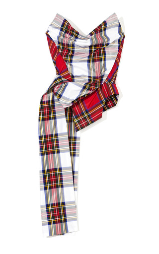 Medium vivienne westwood multi dual tartan corset with train