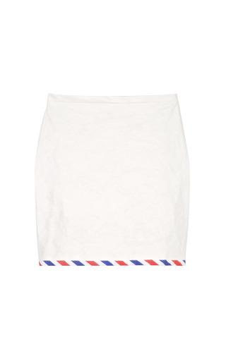 Medium chalayan white skirt with postal stripe