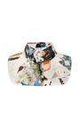 Printed Crepe De Chine Bib by CARVEN Now Available on Moda Operandi