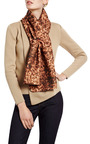 Printed Wool Blend Drape Scarf by CARVEN Now Available on Moda Operandi