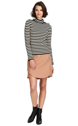Wool Skirt With Envelope Hem by CARVEN Now Available on Moda Operandi