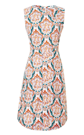 Sleeveless Printed Poplin Dress by CARVEN Now Available on Moda Operandi