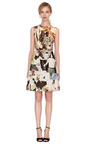 Sleeveless Printed Wool Canvas Dress by CARVEN Now Available on Moda Operandi