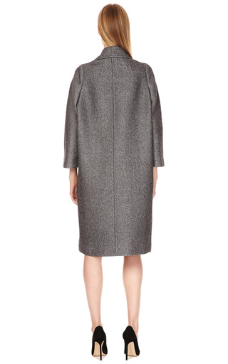 Reeves Double Breasted Tweed Overcoat by CALVIN KLEIN COLLECTION Now Available on Moda Operandi