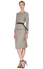 Belted Wool Blend Peplum Dress by CALVIN KLEIN COLLECTION Now Available on Moda Operandi