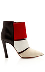 Nanette Suede Leather & Calf Hair Ankle Boots by CALVIN KLEIN COLLECTION Now Available on Moda Operandi