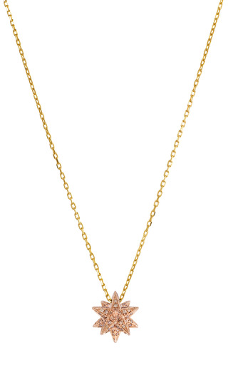 Medium noor fares gold geometry 101 18k rose gold merkaba pendant