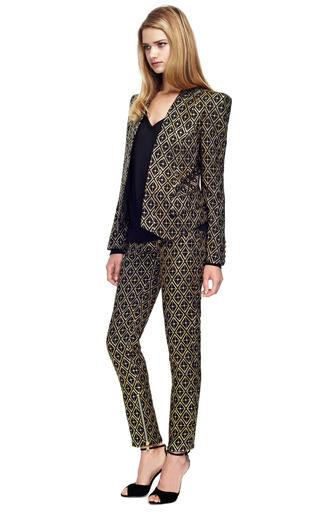 Jacquard Skinny Trousers by BALMAIN Now Available on Moda Operandi