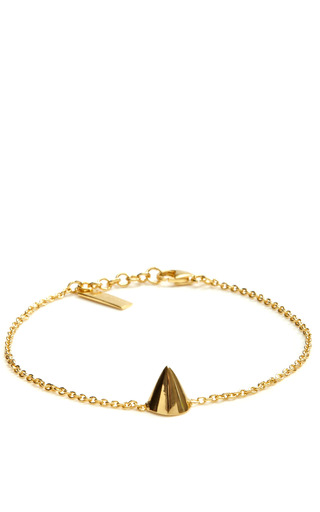 Medium eddie borgo gold gold plated cone bracelet