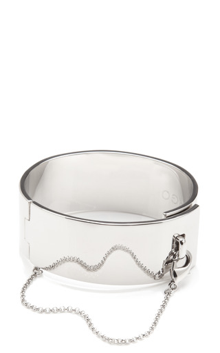 Medium eddie borgo silver safety chain cuff