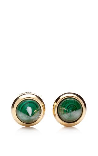 Medium eddie borgo gold gold plated malachite cone stud earrings