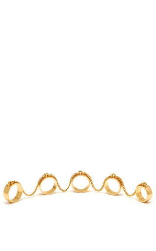 Medium eddie borgo gold 5 finger ring