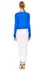 Sandy Fine Knit V Neck Silk Sweater by EQUIPMENT Now Available on Moda Operandi