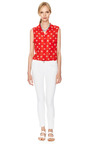Signature Silk Sleeveless Spotted Top by EQUIPMENT Now Available on Moda Operandi