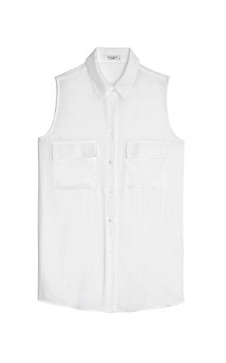 Signature Cotton Gauze Blouse by EQUIPMENT Now Available on Moda Operandi