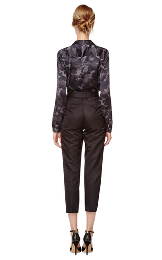 Wool Faille Cropped Pants by GIULIETTA Now Available on Moda Operandi