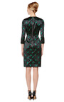 Silk Satin Cat Print Fitted Dress by GIULIETTA Now Available on Moda Operandi