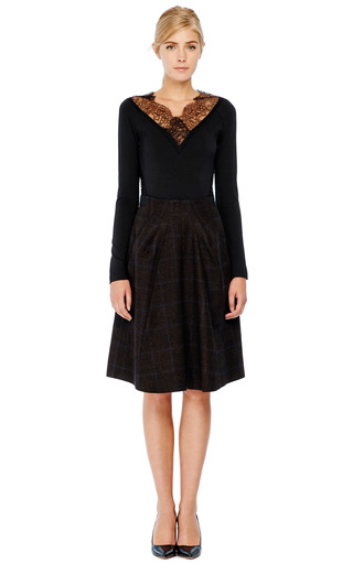 Lace Trimmed Stretch Jersey Top by DONNA KARAN Now Available on Moda Operandi