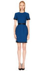 Satin Trimmed Wool Crepe Dress by HONOR Now Available on Moda Operandi
