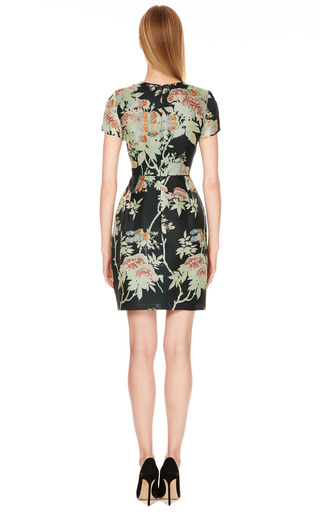 Silk Gazar Floral Print Fitted Dress by HONOR Now Available on Moda Operandi