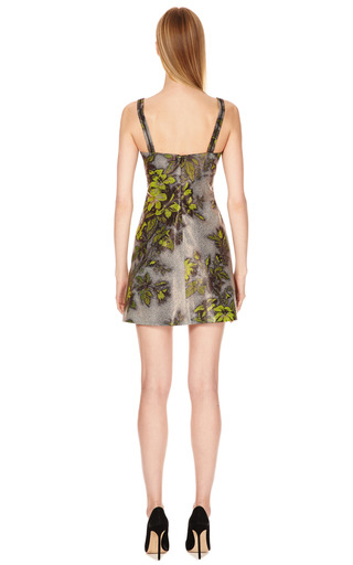 M'o' Exclusive: Laminated Floral Print Mini Dress by HONOR Now Available on Moda Operandi