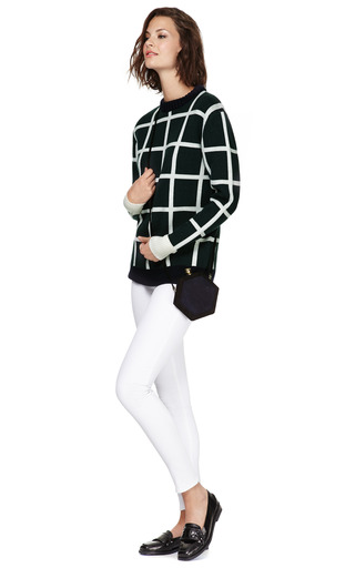 Large Checked Wool Sweater by J.W. ANDERSON Now Available on Moda Operandi