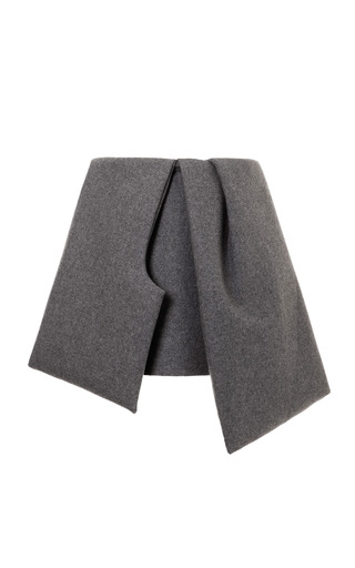Medium j w anderson dark grey bow skirt