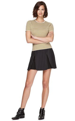 Paneled Pinstripe Mini Skirt by J.W. ANDERSON Now Available on Moda Operandi