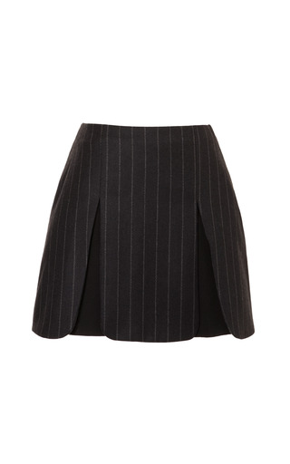 Medium j w anderson dark grey paneled pinstripe mini skirt