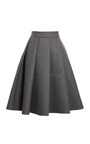 Pleated Bonded Neoprene Wool Blend Skirt by J.W. ANDERSON Now Available on Moda Operandi