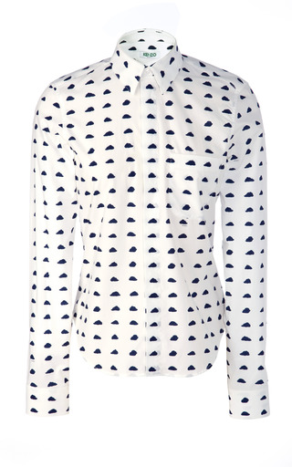 Medium kenzo white cloud print cotton shirt