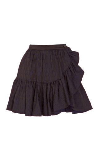 Medium kenzo blue ruffled cotton mini skirt