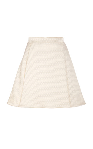 Satin Jacquard A Line Mini Skirt by KENZO Now Available on Moda Operandi