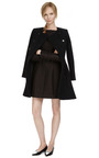 Double Breasted Tailored Wool Collarless Coat by KENZO Now Available on Moda Operandi