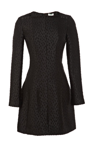 Medium kenzo black raindrop jacquard mini dress