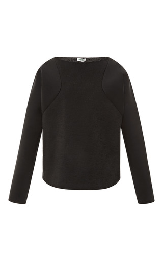 Medium kenzo black quilted neoprene sweatshirt