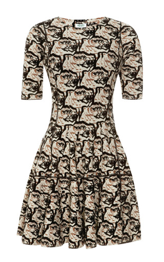 Medium kenzo multi jacquard stretch knit dress