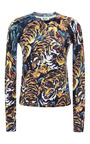 Printed Wool Crewneck Sweater by KENZO Now Available on Moda Operandi